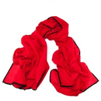 Lyst - Black.Co.Uk Vestry Red And Black Scarf - Cashmere ...
