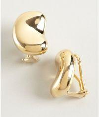 Tiffany & Co Elsa Peretti Gold Bean Clip On Earrings in ...
