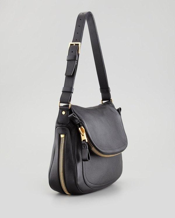 Tom Ford Jennifer Leather Shoulder Bag In Black - Lyst