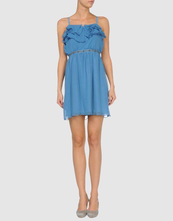 Charlotte Ronson Short Dress In Blue Azure - Save 68 Lyst