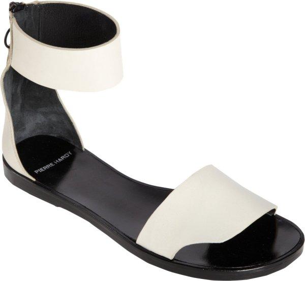 Pierre Hardy Ankle Cuff Flat Sandal In White Lyst
