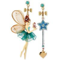 Betsey johnson Antique Gold-tone Fairy And Wand Mismatch ...