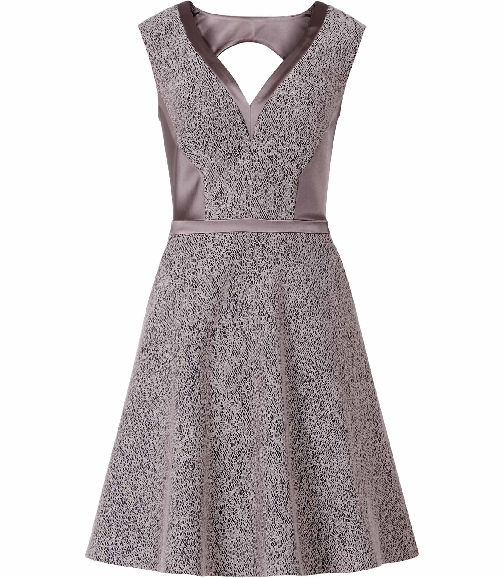 Lyst  Reiss Ella Satin Panel Lace Dress in Blue