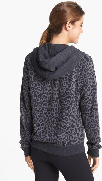 Nike Rally Cheetah Print Full Zip Hoodie In Animal Black