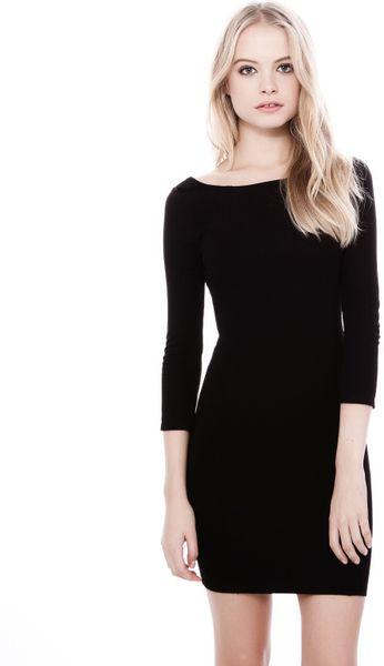 Pullbear Tube Dress with Low Cut Back in Black  Lyst