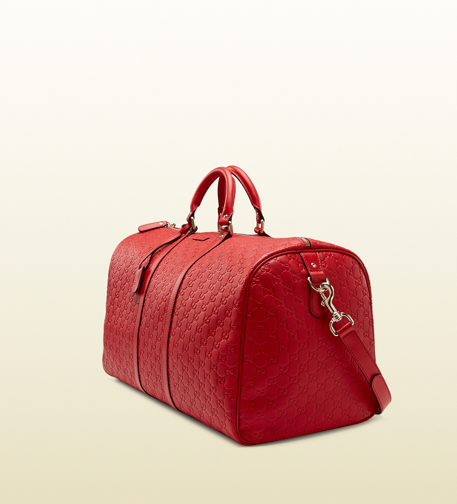 Lyst - Gucci Red Ssima Leather Carry-on Duffel Bag in Red