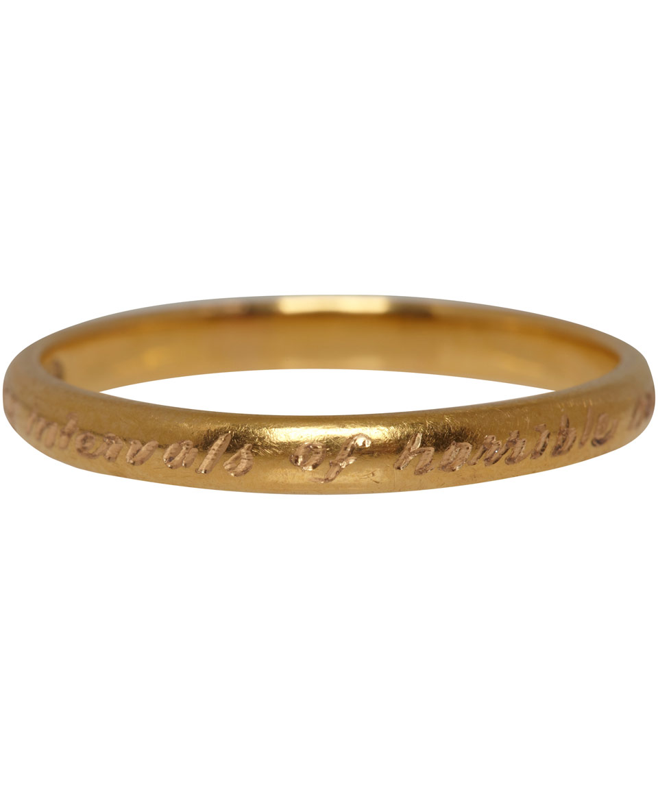 Annina Vogel Victorian 22ct Gold Engraved Edgar Allen Poe Ring in Gold  Lyst