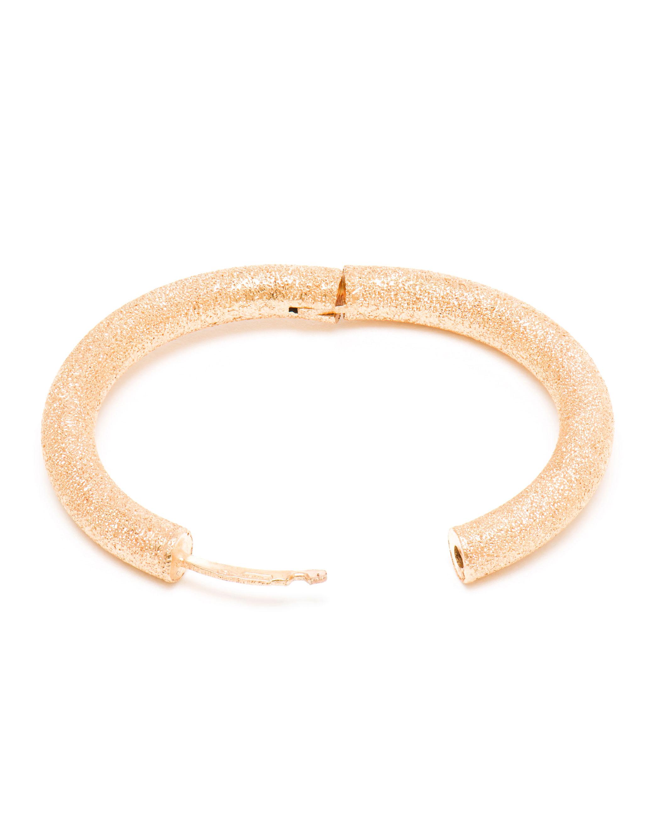 Carolina bucci 18k White Gold Sparkly Hoop Earrings in