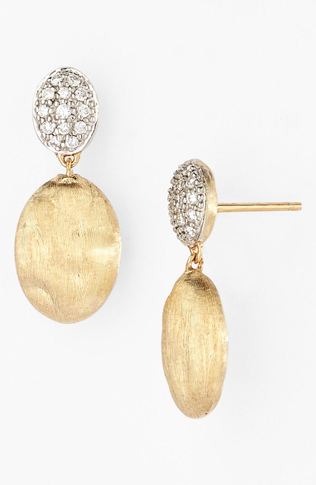 Marco Bicego Siviglia Diamond Drop Earrings in Gold