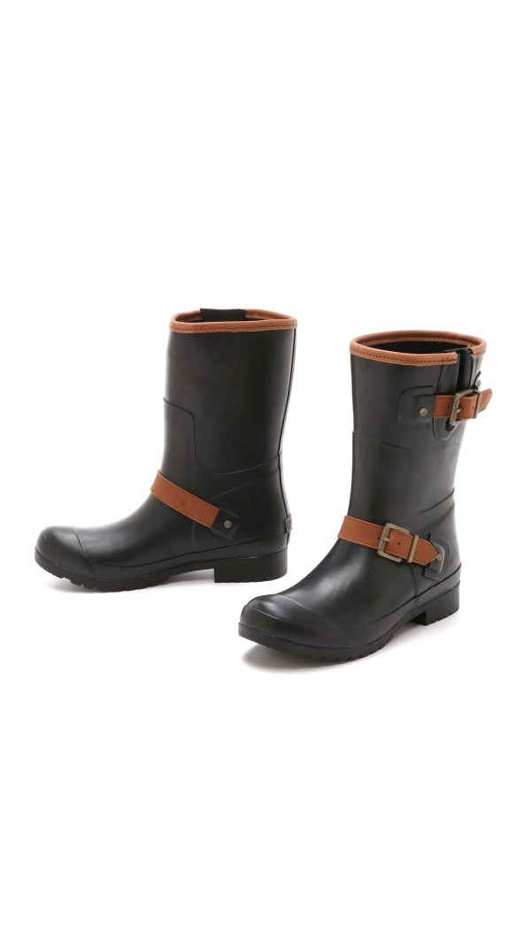 Sperry Top-sider Walker Fog Rain Boots - Black In Lyst