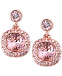 Givenchy Earrings, Rose Gold-tone Swarovski Light Pink ...