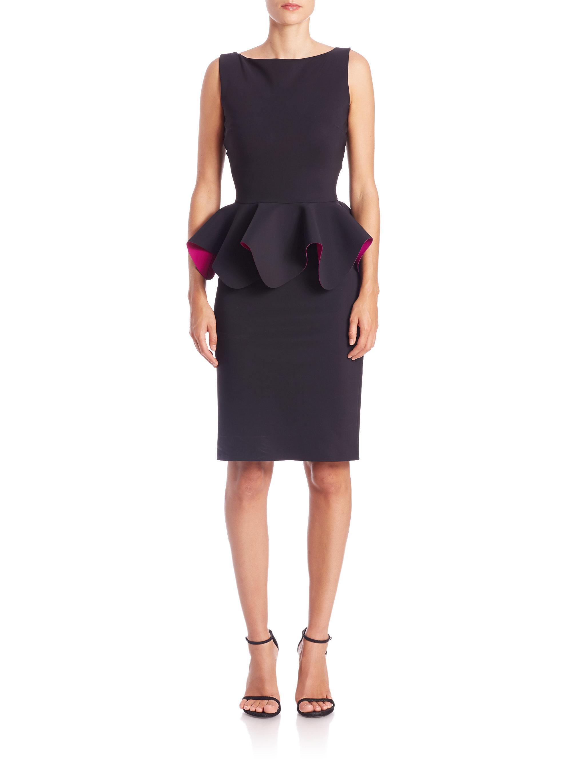 Lyst  La Petite Robe Di Chiara Boni Peplum Cocktail Dress