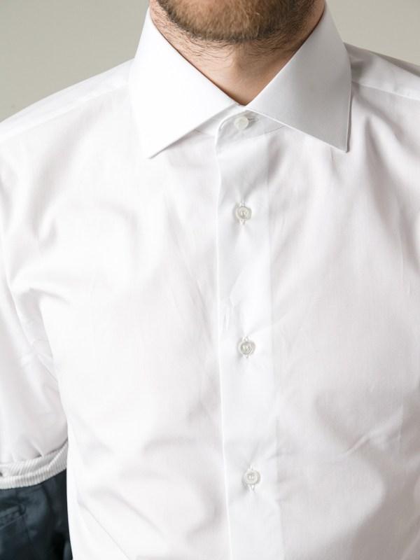 Brioni Classic Shirt In White Men Lyst