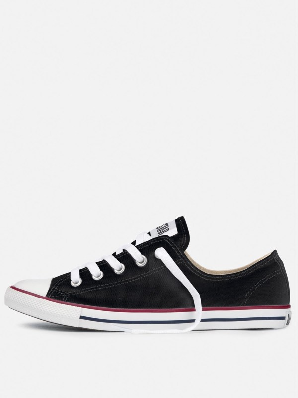 Converse All Star Low Tops Dainty Plimsolls in Black for
