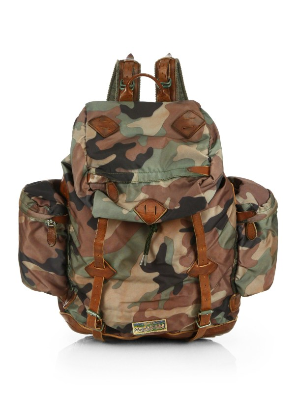 Polo Ralph Lauren Yosemite Nylon Backpack In Multicolor