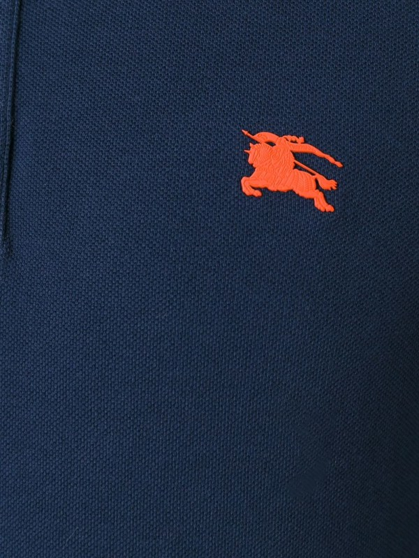 Lyst - Burberry Brit Embroidered Logo Polo Shirt In Blue
