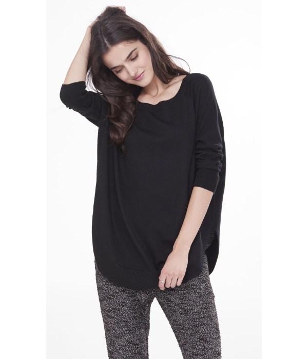 Lyst - Express Extreme Circle Hem Tunic Sweater In Black