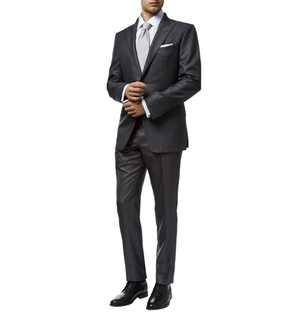 Tom Ford Connor Pinstripe Suit In Gray Men - Lyst
