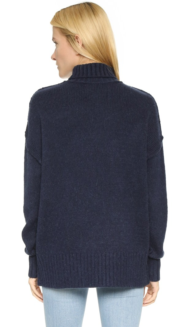 Nlst Oversized Turtleneck Sweater - Navy In Blue Lyst