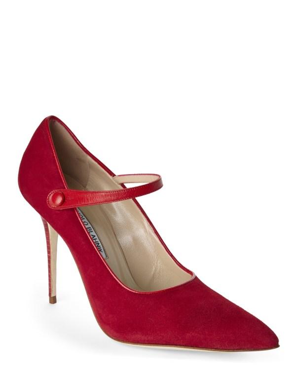 Lyst - Manolo Blahnik Red Torbat Mary Jane Pumps