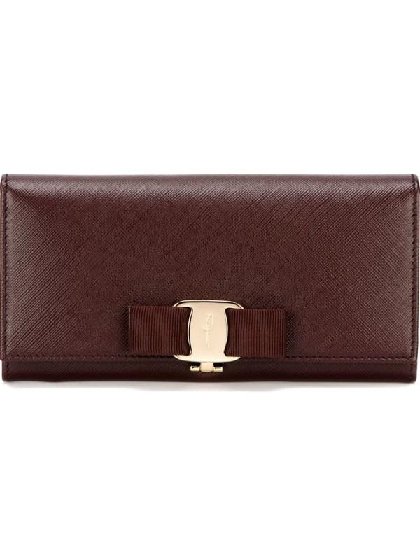 Lyst - Ferragamo ' Vara' Bow Wallet In Red