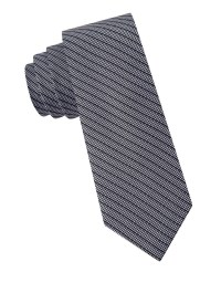 Calvin klein Microhoundstooth Striped Silk Tie in Gray for ...