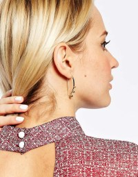 Lyst - Asos Limited Edition Bauble Through Earrings in ...