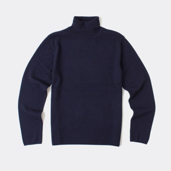 Billy Reid Turtleneck Sweater In Blue Navy Lyst