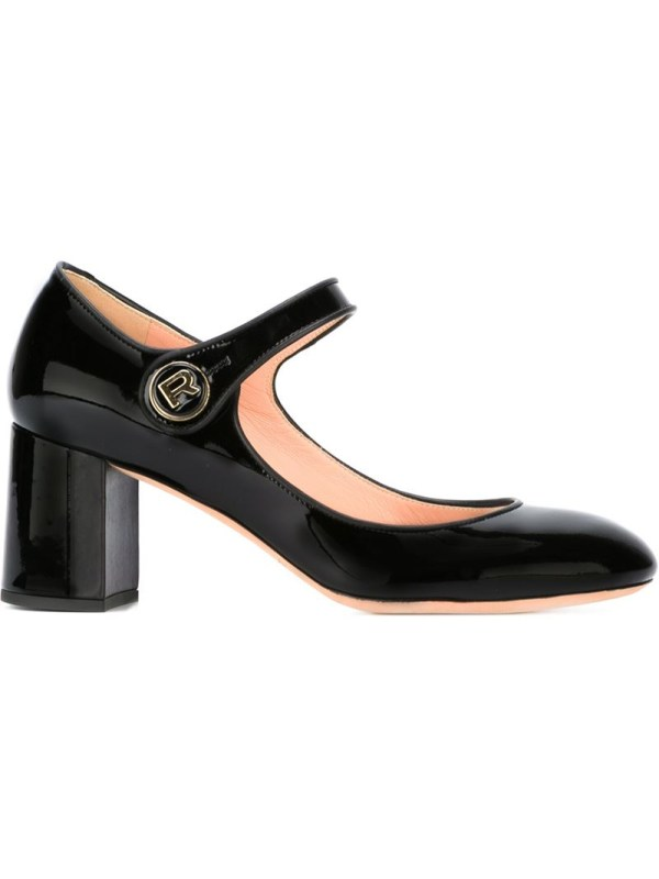 Lyst - Rochas Chunky Heel Mary Jane Pumps In Black