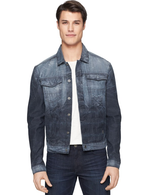 1b3c5367d851 Calvin Klein Jeans Reverse Vapor Denim Trucker Jacket In Blue Men Lyst ...