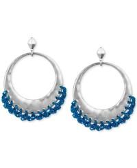 Lyst - The Sak Silver-tone Blue Crochet-edged Hoop ...