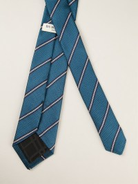 Lyst - Burberry Striped Pointed Tip Tie in Blue for Men