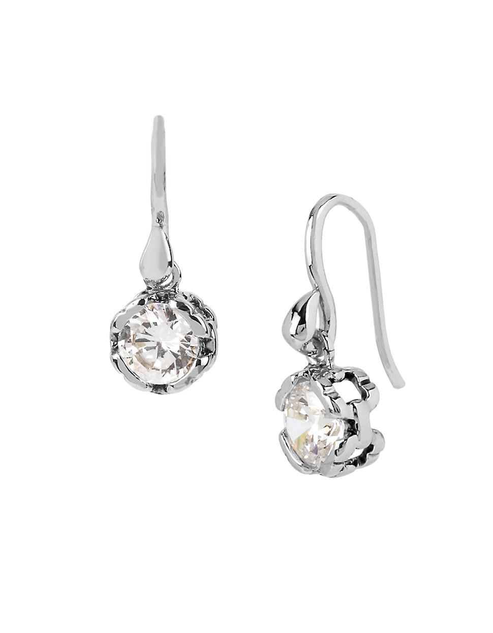 Diane von furstenberg Cubism Cubic Zirconia Drop Earrings