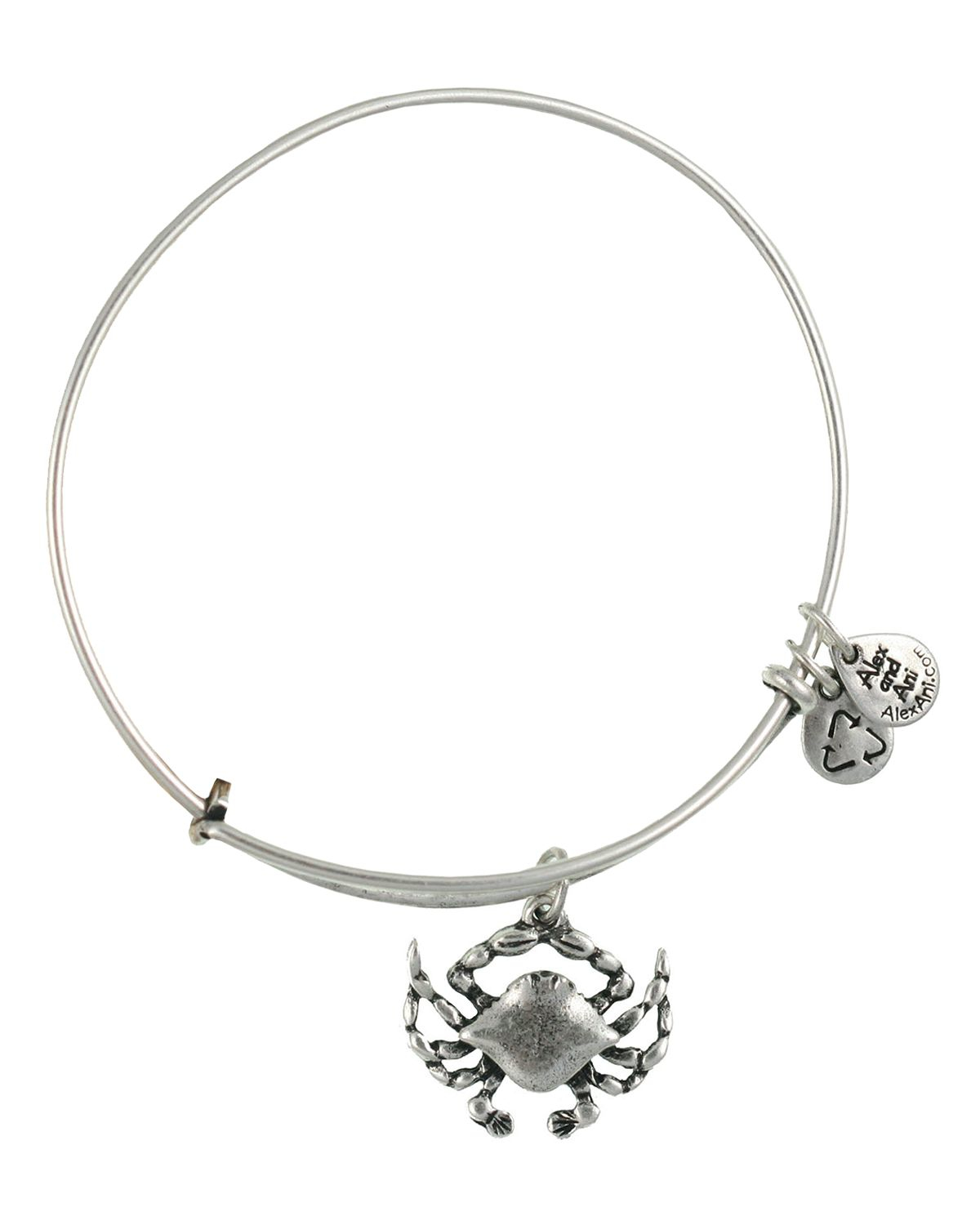 Alex And Ani Crab Expandable Wire Bracelet In Metallic