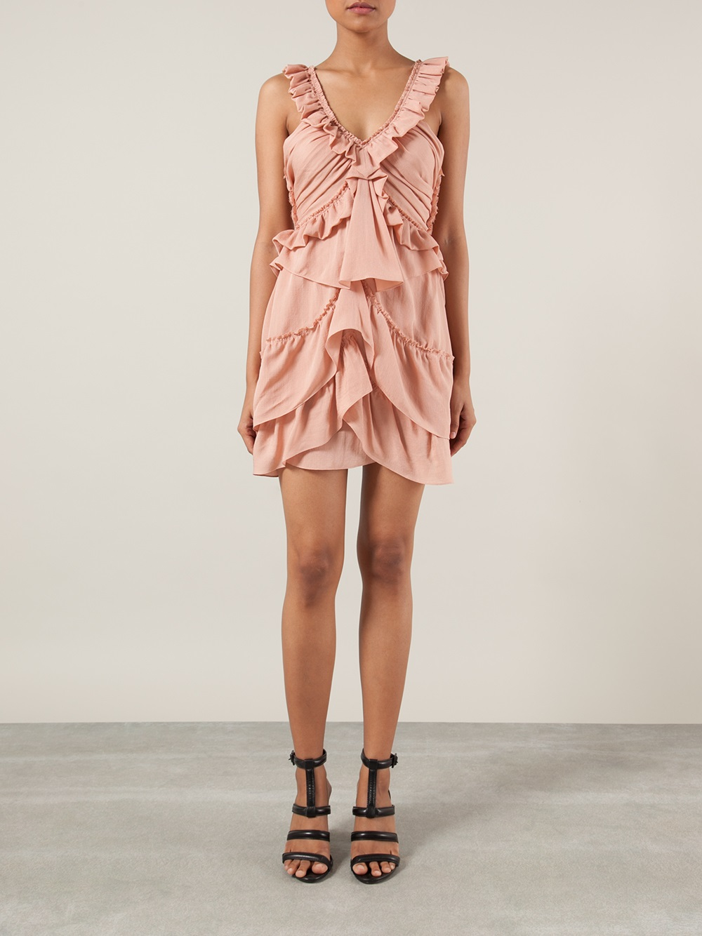 Lyst  Isabel Marant Ruffle Dress in Pink