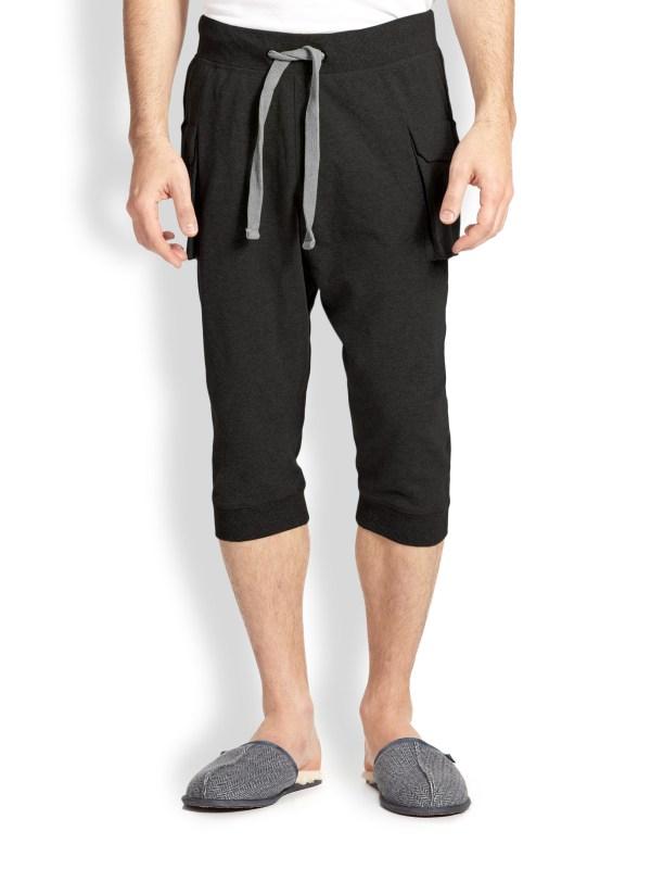 2xist Cargo Pocket Capri Pants In Gray Men Dark Grey