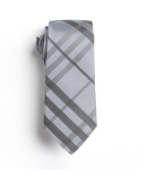 Lyst - Burberry Dusty Blue Check Silk Tie in Gray for Men