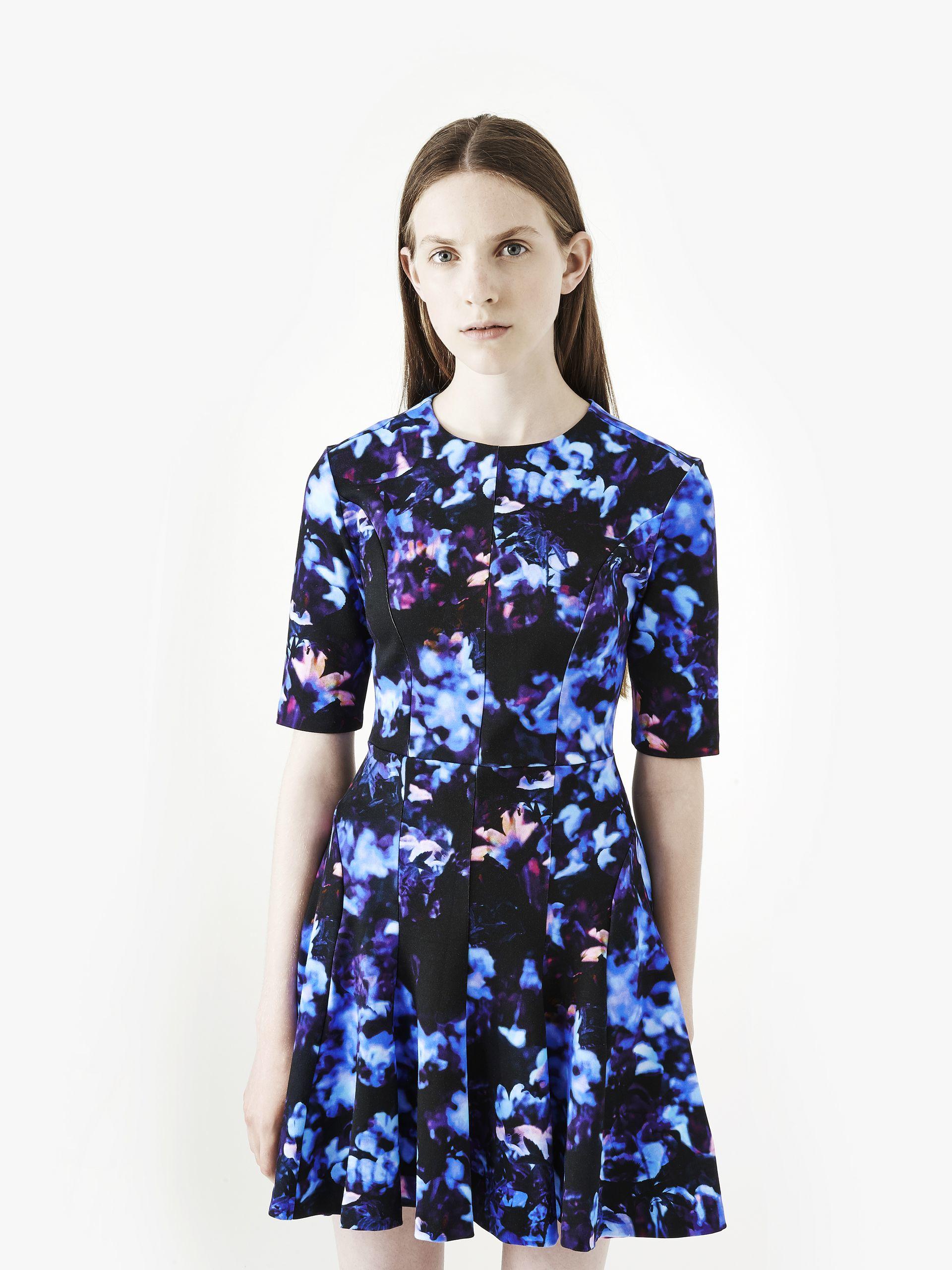 Mcq Long Flirty Dress In Blue Lyst