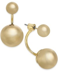 Lyst - Kate Spade New York Gold-tone Ball Front-back ...