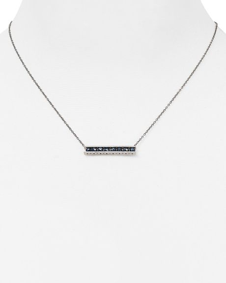 Chan Luu Horizontal Bar Pendant Necklace, 17
