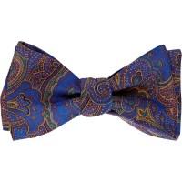 Barneys new york Men's Paisley Bow Tie in Blue for Men | Lyst