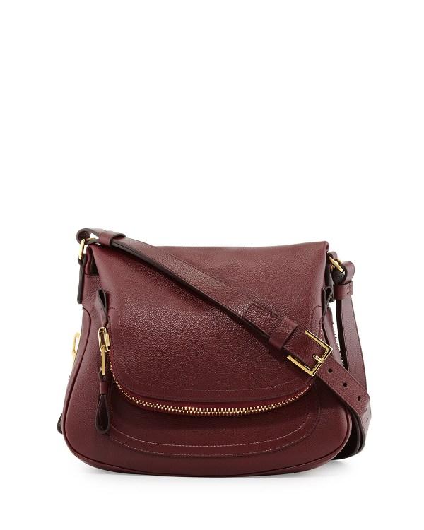 Tom Ford Jennifer Medium Leather Shoulder Bag In Red Lyst