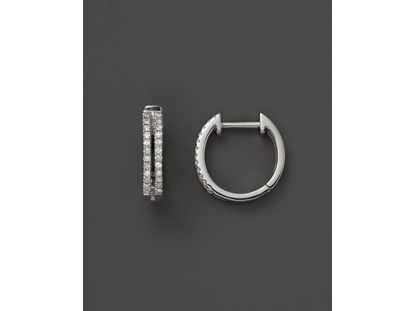 Lyst - Kc Design Diamond Double Row Huggie Hoop Earrings