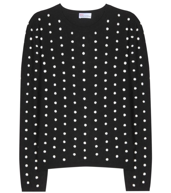 Lyst - Red Valentino Polka-dot Sweater In Black