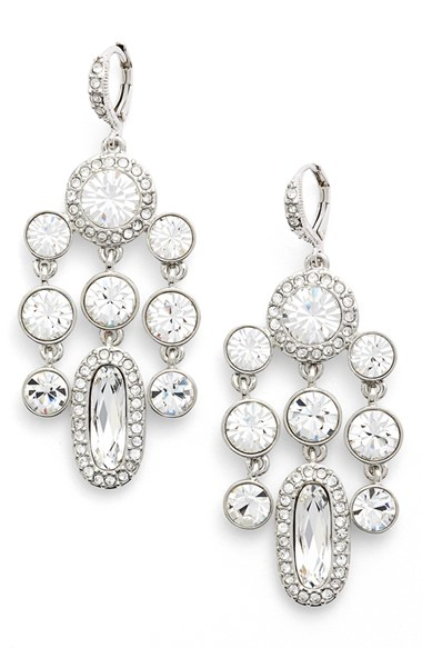 Givenchy 'drama' Crystal Chandelier Earrings in Metallic