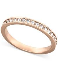 Swarovski Rose Gold-tone Crystal Pave Ring in Pink | Lyst