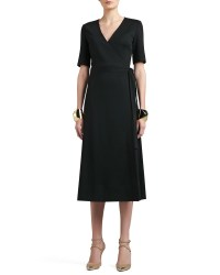 St. John Milano Knit Boot Length Tie Wrap Dress with ...