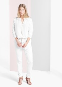 Violeta by mango Decorative Chain Blouse in White | Lyst