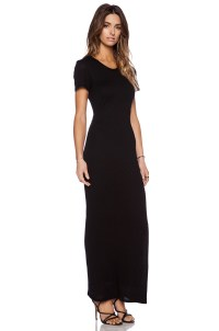 Black Short Sleeve Maxi Dress | www.pixshark.com - Images ...