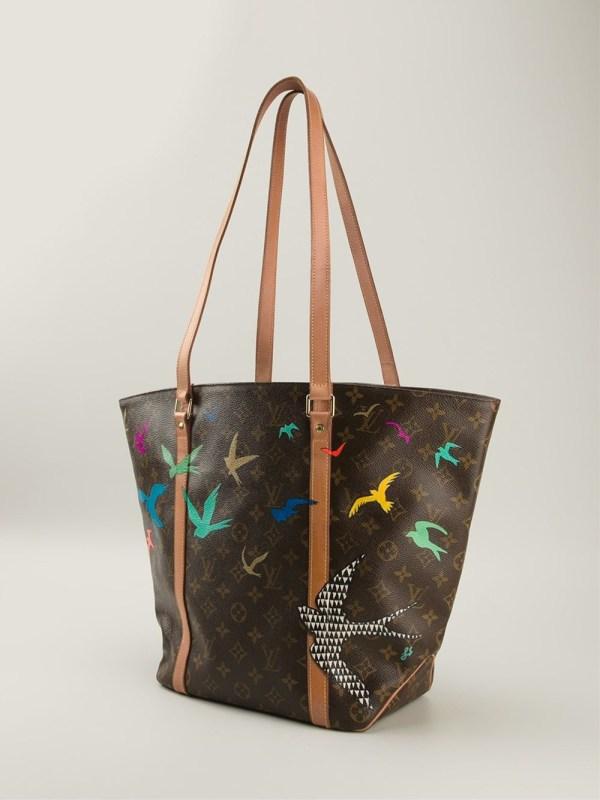 Lyst - Louis Vuitton Bird Print Tote Bag In Brown
